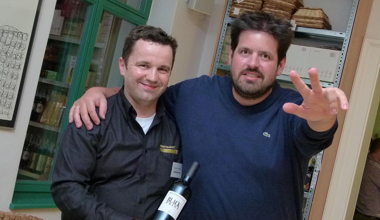 Markus Schneider mit edelrausch-Sommelier Torsten Schubert zur Kultwinzer-Hausmesse in Dresden